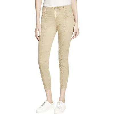 J Brand 0759 Womens Byrnes  Tan Skinny Mid-Rise Colored Cargo Jeans 25 BHFO
