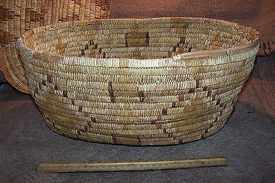 "Salish? or Mescalero Apache Storage BASKET with Lid, 18"" x 11.5"" x 8"" Native Am"