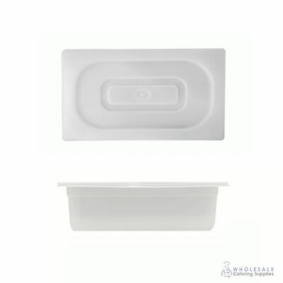 Food Pan with Clear Lid 1/3 GN Size 100mm Deep Polypropylene Gastronorm