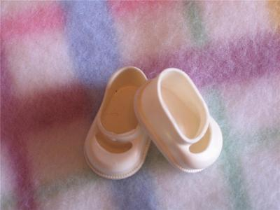 """SHOES, soft white vinyl Mary Janes to fit 8"""" GINETTE"""
