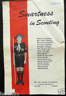 Boy Scout Smartness In Scouting 1950 Booklet Guide for Uniforms,Signal,Flag,Cubs