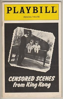 "Carrie Fisher  ""Censored Scenes From King Kong""  Playbill  FLOP 1980  PREVIEW"