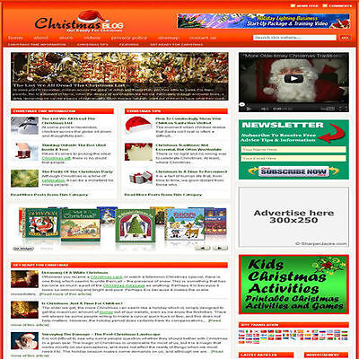 Established 'CHRISTMAS' Affiliate Website Turnkey Business (FREE HOSTING)
