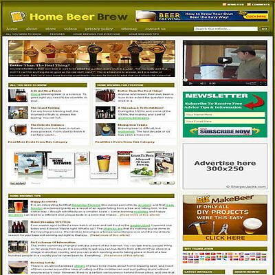 Established 'BEER BREWING' Affiliate Website Turnkey Business (FREE HOSTING)