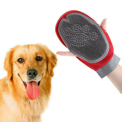 Pet Dog Cat Grooming Massage Hair Removal Bath Brush Glove Dog Cat Hair Comb New