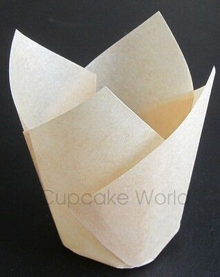 100Pcs Natural Standard Cafe Style Paper Muffin Cupcake Wraps Cups Cases Liners