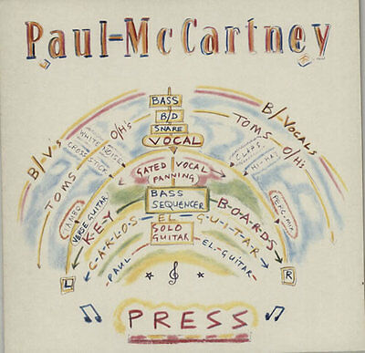 "Paul McCartney and Wings Press Dutch 12"" vinyl single record (Maxi)"