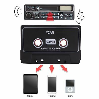 Car Cassette Casette Tape 3.5mm AUX Audio Adapter MP3 MP4 Player CD iPod iPhone