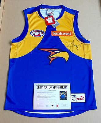 Ben Cousins  West Coast Eagles  King Of The West  Signed Guernsey
