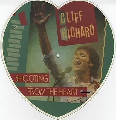 Cliff Richard Shooting From The Heart shaped picture disc vinyl record UK