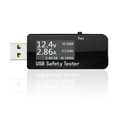 Mobile Phone Power Mini USB Safety Tester Charger Meter Current Voltage Detector