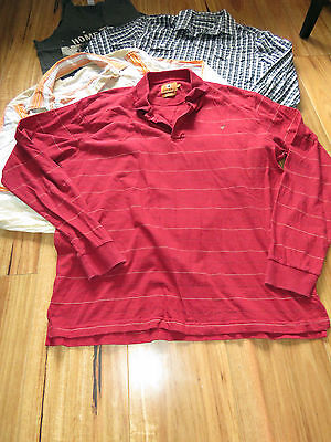 Bulk Lot Of Mens L/s Shirts/ L/s Tops/singlets Sz L-Mossimo/red River/french Con