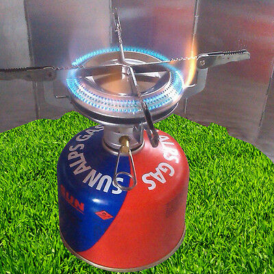 Portable Mini Stainless Steel Gas Burner Camping Outdoor Picnic Gas Stove Useful