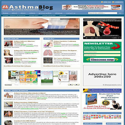 Established 'ASTHMA' Affiliate Website Turnkey Business For Sale (FREE HOSTING)