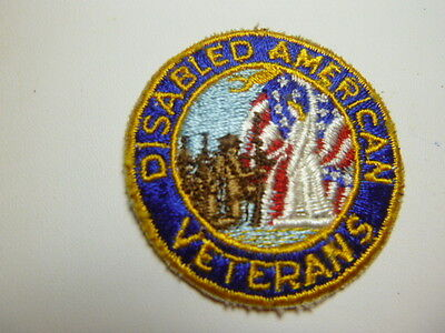 A   U S Army Disabled Veterans  Patch