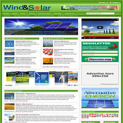 Established 'SOLAR ENERGY' Affiliate Website Turnkey Business (FREE HOSTING)