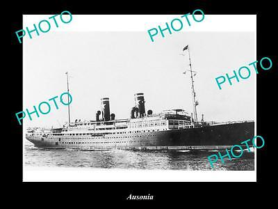 OLD LARGE HISTORIC MERCHANT SHIP PHOTO OF THE STEAMSHIP SS AUSONIA c1920s