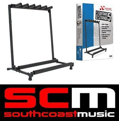 Gs805 Xtreme Multi 5 Guitar Stand Holds 5 Acoustic - Electric Or Bass Guitars
