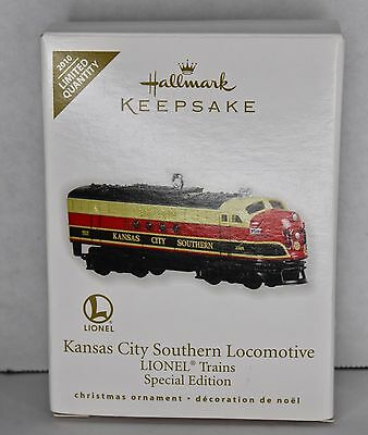 Kansas City Southern Locomotive LIONEL Trains Ornament Special Edition Hallmark