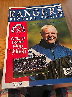 Rangers Official Colour Souvenir Giant Team Poster opens out 1996-97
