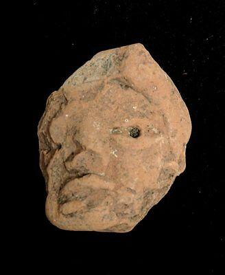 Mayan Cenote Yucatan Dig Pre-Columbian Stone Clay Ancient Artifact Head L4Z