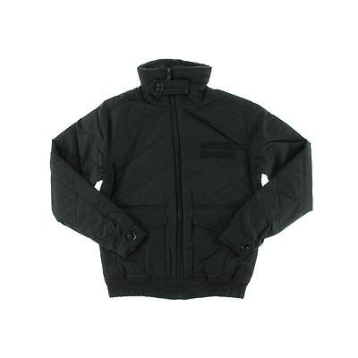 Steve Madden 0494 Mens Black Cotton Quilted Outerwear Jacket Coat XL BHFO
