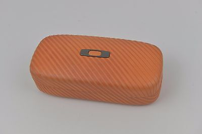PERSIMON/ORANGE Authentic Oakley Square O Hard Case sunglasses/glasses