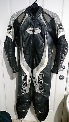 AXO one piece motorcycle leather suit sz EUR 50