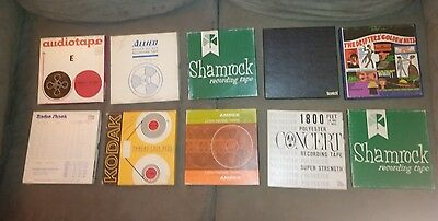 """Lot Of 34 Country Rock 7"""" Reel To Reel Tapes Bee Gees, Beatles Patsy. 1966"""