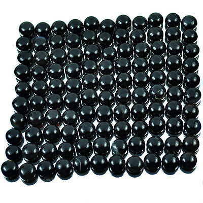 10mm~470 Cts/110 Pcs Natural African Round Cab Untreated Black Onyx Gems Lot-