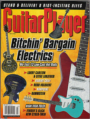 Guitar Player Magazine July 2001 Spacehog Robert Cray Rammstein Jeff Lynn Fender