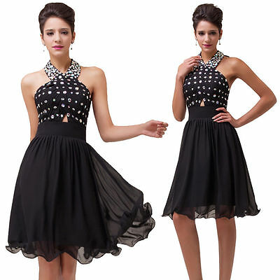 New Formal Evening Prom Dress Ball Gown Cocktail Party Short Mini Women Dresses