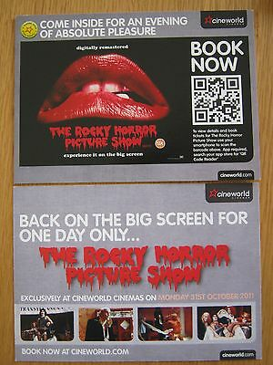 """Rocky Horror Picture Show Rare Film Promo Card 6"""" X 4"""" (Double Sided)"""