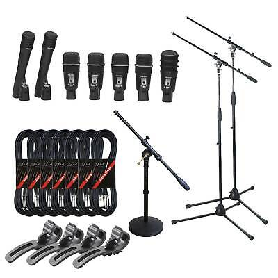 Superlux DRKA5C2 Extended 7-Piece Drum Mic Set with Stands & Leads - New