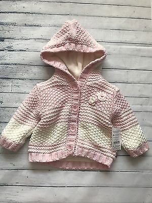 Baby Girls Clothes 0-3  Months - Cute Hooded Cardigan Jacket New 🌸🌈🌸