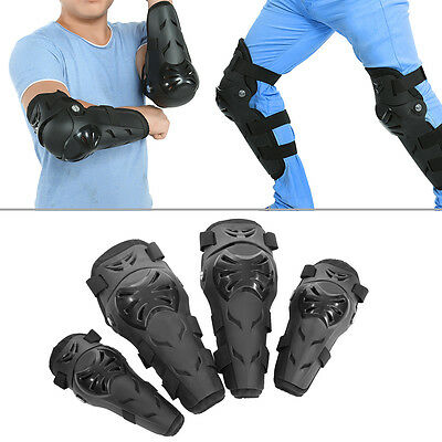 4 pcs Motorcycle Cycling Elbow and Knee Pads Protector Guard Armors Set Black AF