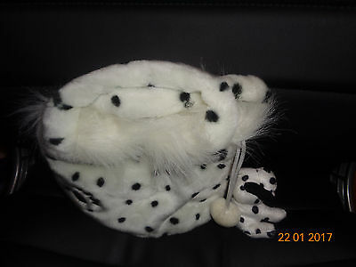 Dalmation print bag with Dalmatian Key Ring attached.(Rare)