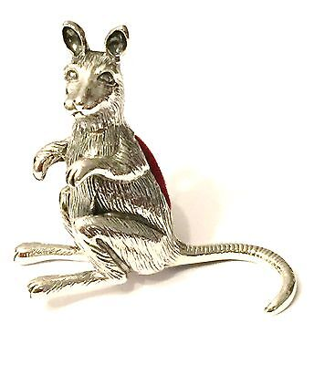 Sterling Silver Kangaroo Pin Cushion Superb