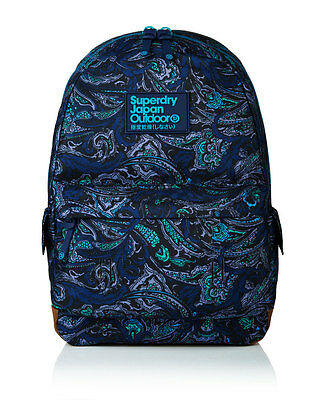 New Womens Superdry Savanna Montana Rucksack Leaf Paisley Navy