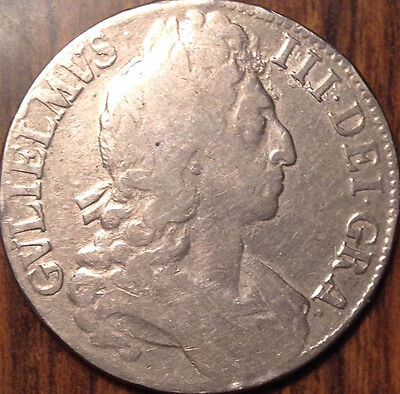 1696 Uk Gb Great Britain Silver Crown In Good Condition !