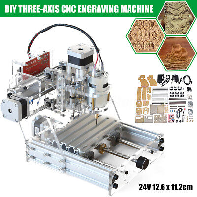 3 Axis DIY CNC Mini Router Engraving PCB Milling Machine Metal Cutting Engraver