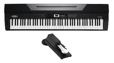 Digital Piano Electronic Keyboard 88 Keys 64 Polyphony Sounds USB EQ AUX MIDI
