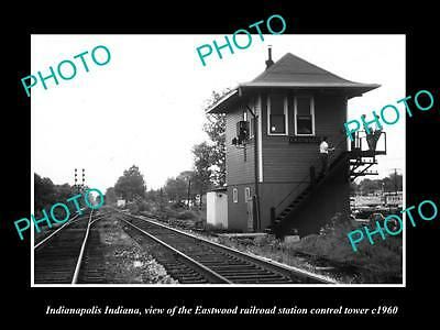 OLD HISTORIC PHOTO OF INDIANAPOLIS INDIANA, THE EASTWOOD RAILROAD STATION c1960
