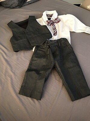 Boys 3-6 Months 3 Piece Suit Smart Matalan
