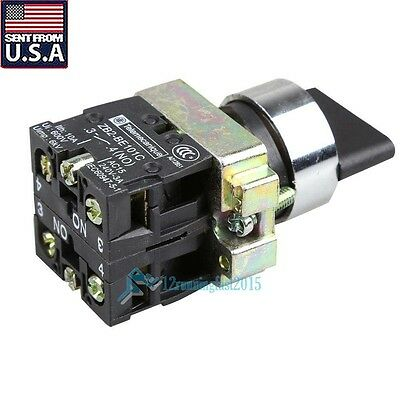 10A 3 Position 2NO Maintained Toggle Select Selector Switch XB2-BD33C US STOCK