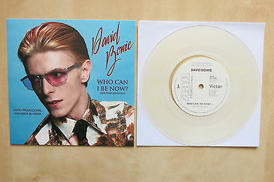 """DAVID BOWIE Who Can I Be Now? 7"""" clear vinyl in picture sleeve"""