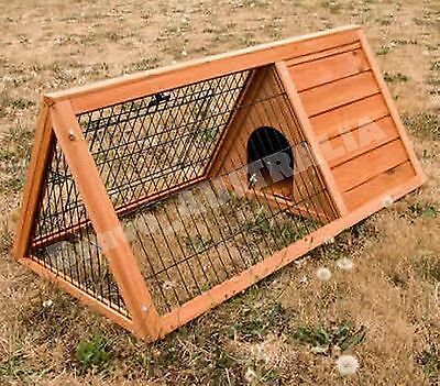 Pet Rabbit Hutch House Guinea Pig Wooden Cage Run Animal Coop