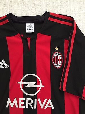 Adidas AC Milan Official Home Team Red and Black Stripe Men Jersey