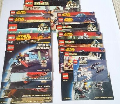 Job Lot LEGO Star Wars Instruction Manuals - 19 in Total - 7126/7255/7256/7171