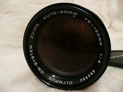Olympus Zuiko 75-150mm F4 Lens for OM Film Cameras excellent condition with case